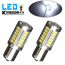2X 1156 White 33SMD RV Camper LED Interior Bulbs Backup Reverse Lights 1141 1073