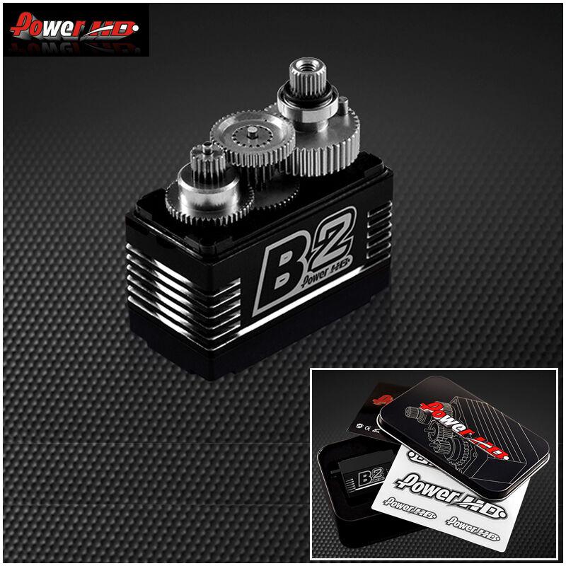 Power HD B2 35kg 7.4V sin Escobillas Digital Servo Con Engranajes de metal y Bearin doble