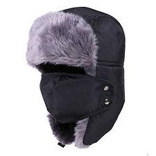 item 4 Mens Womens Winter Fur Trapper Aviator Bomber Trooper Earflap Russian  Ski Hats -Mens Womens Winter Fur Trapper Aviator Bomber Trooper Earflap  Russian ... db135c79afad