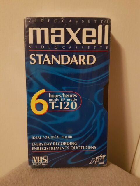 Blank VHS Maxwell Standard T-120 VHS Brand New Sealed 6 Hours Recording Time
