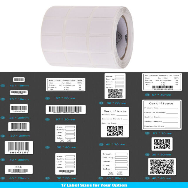 Thermal Paper Roll Self-adhesive Printing Label Sticker for BT Thermal  Printer