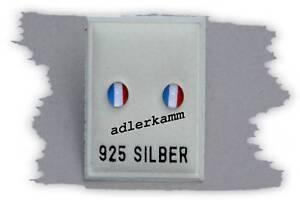 Tolle-Laender-Ohrstecker-Frankreich-aus-925-er-Silber