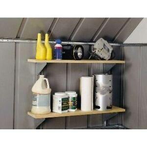 Arrow-Shed-SS404-Shelf-Bracket-System-Gray