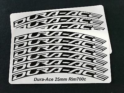 Dura-Ace C40 C60 35mm-50mm Wheel Decal stickers with Color Options