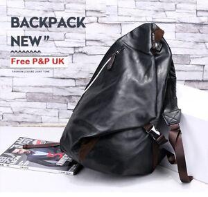 Mens Luxury Backpack Leather Business Office Work Satchel Cabin Bag
