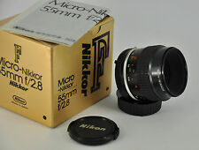 Nikon 55mm f2.8  Ai-s  Manual Focus Wide Angle Lens - Nice condition boxed