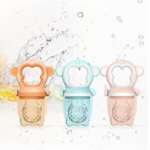 2 X Newborn Baby Food Fruit Nipple Feeder Pacifier Safety Silicone Feeding Tool