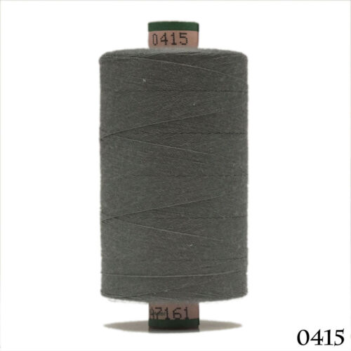 Amann 100/% Polyester Core-Spun Sewing Thread  Sabac 80 1000M Color 0415 Gray