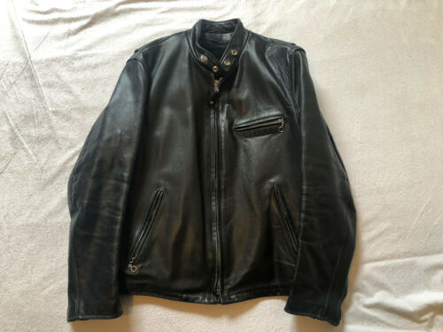 SCHOTT NYC 141 Cafe Racer Black Leather Motorcycle
