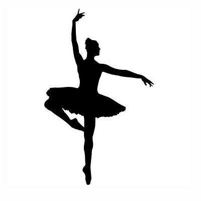 Ballerina Dance Logo Decal Car Window Sticker Vinyl Pick The Size and Color