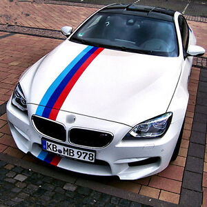 BMW M Color Stripes Rally Racing Motorsport Vinyl Decal Sticker - Bmw racing stripes decals