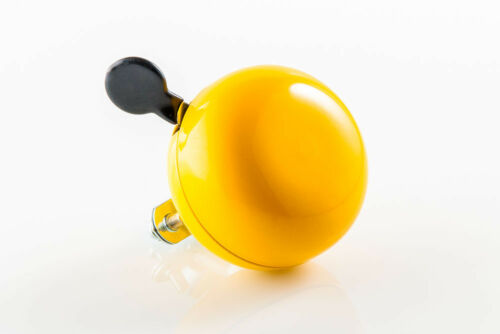 """New 80mm Oversize /""""Ding-Dong Sound/"""" Bicycle Cycling Color Big Bell Horn Yellow"""