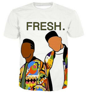 Women Men Adult 3D T-Shirt fresh prince of bel air art Print Casual ... d3618d7e5
