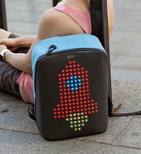 Pix-smart-urban-backpack-with-customizable-screen-cyan