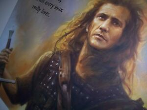 Details About Braveheart 30x20in Oil Painting Not A Print Giclee Canvas Only Framing Avail