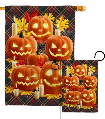 Pumpkin Patch Garden Flag Fall Halloween Small Decorative Gift Yard House Banner