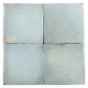4x4 Gray Distressed Glossy Ceramic Tile