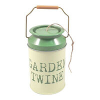 Gardeners Churn of Twine - Tin - Reuseable - Gift - Green - Garden String