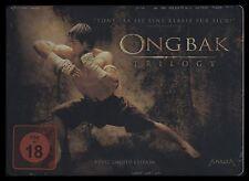 DVD ONG BAK TRILOGY - 1 + 2 + 3 - STEELBOOK - LIMITED EDITION - TONY JAA * NEU *