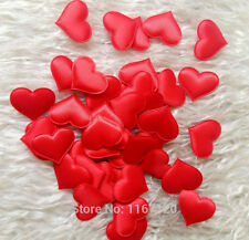 - Zuccherini a Forma di Cuore in tessuto Petalo forniture per matrimoni Tavola Letto Decor Rosso 100 PZ