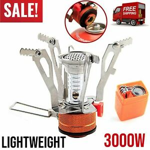 Portable Camping Stove Backpacking Gas Burner Camping Propane Cooker Foldable