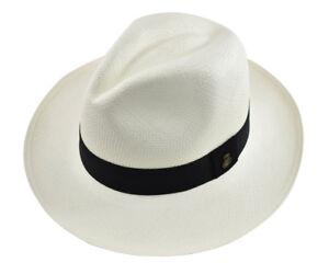 9d5b195fc29 Genuine Panama Hat Paja Toquilla Hand-woven in Ecuador White Classic ...