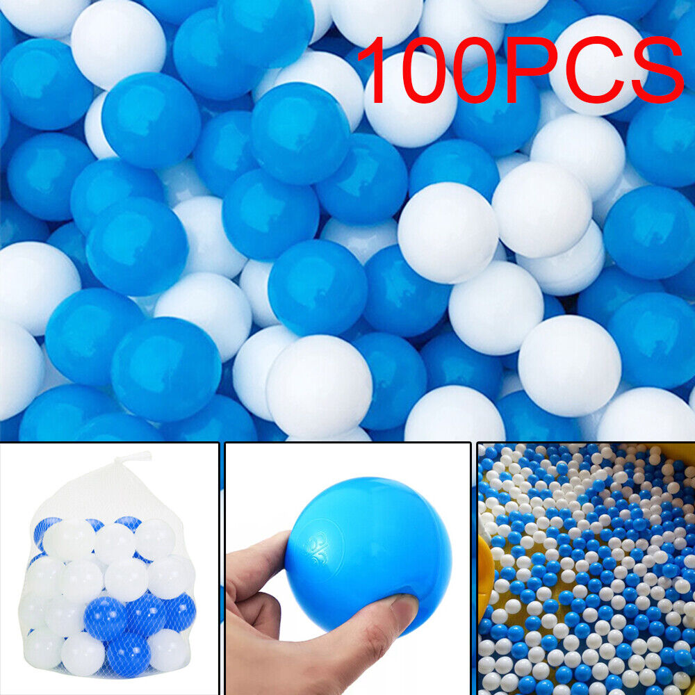 100 PCS Colorful Ball Soft Plastic Ocean Ball Funny Baby Kids Swim Pit Pool Toys