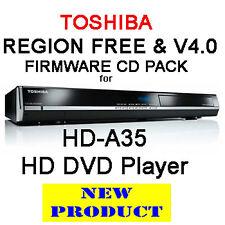 REGION FREE & V4.0 FIRMWARE FOR TOSHIBA HD-A35 HD DVD PLAYER
