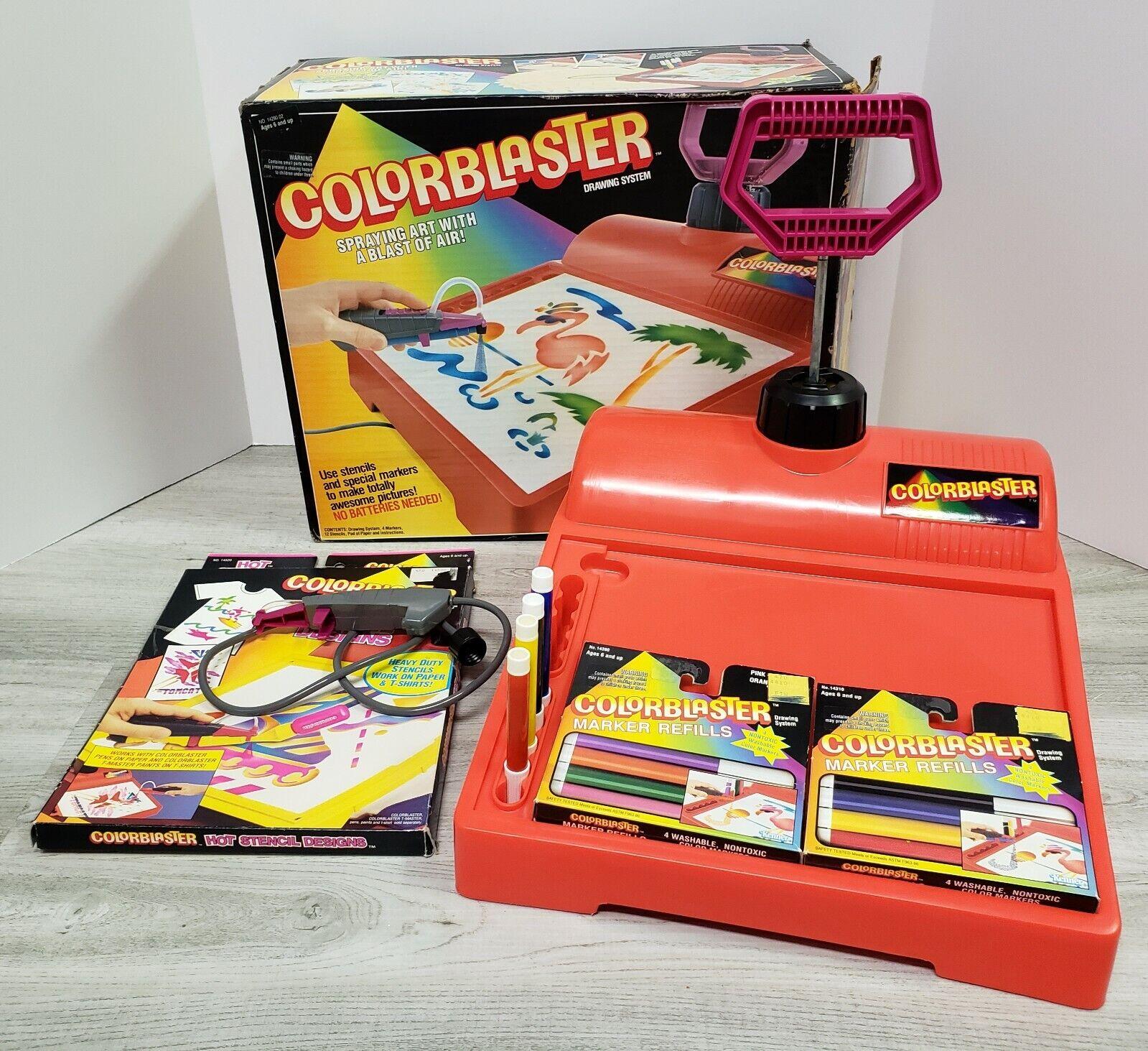 Estación De Dibujo Colorblaster-en Caja-Kenner-con Accesorios-Vintage