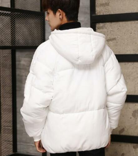 New Men Down Coat Jacket Thicken Warm Short Outwear Baggy Hooded Leisure Outdoor