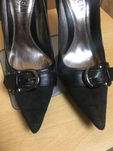 37 Fabric Sassy Gently Worn Black Heels Toi 4 Stilettos Metal 4 De High Morgan xZP7X4