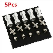 """Sliver Metal 5x 1/4"""" to 3/8"""" Thread Screw Mount Adapter for Camera Flash Tripod"""