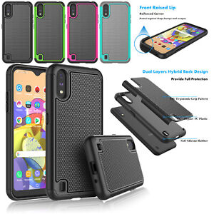 For-Samsung-Galaxy-A01-Case-Silicone-Rubber-Armor-Defender-Shockproof-Slim-Cover