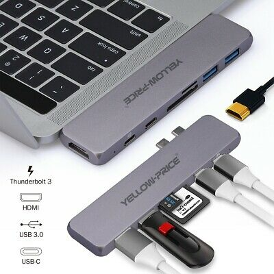 Type-C USB-C Hub Adapter Multi Port Thunderbolt 3 For 2020 ...