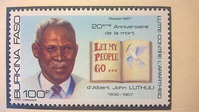 Ehrlich Burkina Faso 1987 Nobelpreis 1961 Frieden Albert John Luthuli Postfrisch Ein GefüHl Der Leichtigkeit Und Energie Erzeugen Burkina Faso Afrika