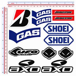 Gas-ufo-shoei-bridgestone-axo-sticker-adesivi-sponsor-moto-casco-pvc-13-pz