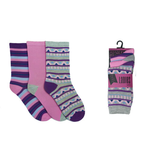 Assorted Ladies Socks Various Designs Soft High Quality Womans Size 4-7