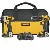 DeWALT 20V MAX Lithium Ion Compact Drill & Impact Combo Kit (1.5 Ah) DCK280C2R