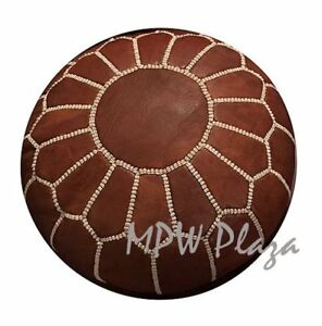 Pleasing Details About Footrest Mini Pouf By Mpw Plaza Brown Moroccan Leather Ottoman Machost Co Dining Chair Design Ideas Machostcouk