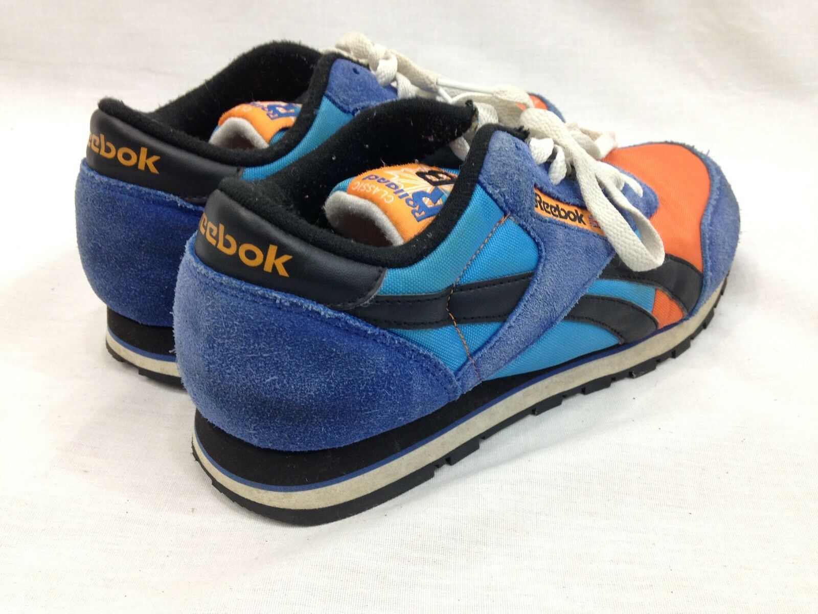 Reebok Classic Sneakers Schuhes  Uomo 6 Rolland Berry Blau Up Orange Niedrig Top Lace Up Blau c194db