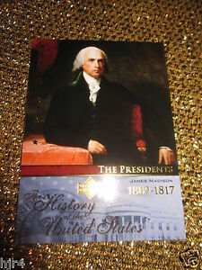 US-President-James-Madison-United-States-American-History-Trading-Card