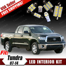 14 Pure Combo White LED Interior 12V SMD Package Kit For Toyota Tundra 2007-2014
