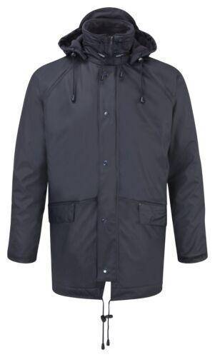 FORTERESSE pour Homme Imperméable Coupe-vent matelassée et doublée en polaire veste avec capuche