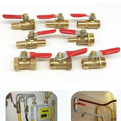 "Clamp Tee Brass Y 3-Way Shut off Ball Valve Fitting Hose Fuel Gas 3//8/"" 10mm HI"