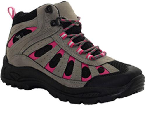 Ladies Walking Hiking Hi Top Boots Womens Lightweight Trekking Trainer Shoes Sz