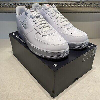 Nike Air Force 1 Jewel WHITEPURE PLATINUMGREYGYM REDUK 14CT3438 100eBay WHITEPURE PLATINUMGREYGYM REDUK 14CT3438 100 eBay