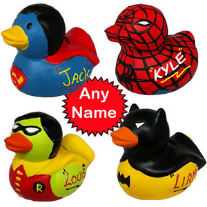 Superhero Duck Personalised Money Banks Superman Spiderman Batman