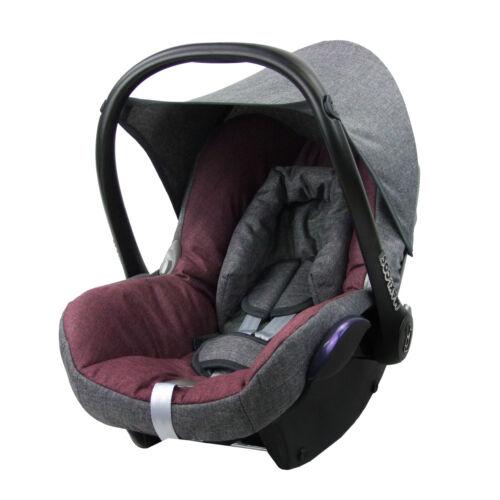 Maxi-Cosi CABRIOFIX Baby MELIERT GRAU//BORDEAUX BAMBINIWELT Ersatzbezug 6tlg