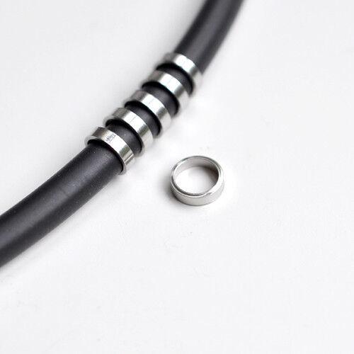 5//50 Edelstahl Ringe Schiebeperlen Slider Diacharme für Bänder bis 5 und 7 mm Ø