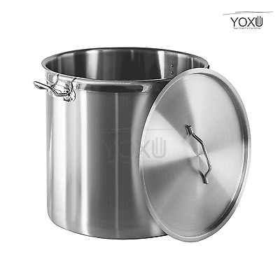STAINLESS STEEL STOCK POT SOUP STEW CASSEROLE POT COOKING BREW PAN